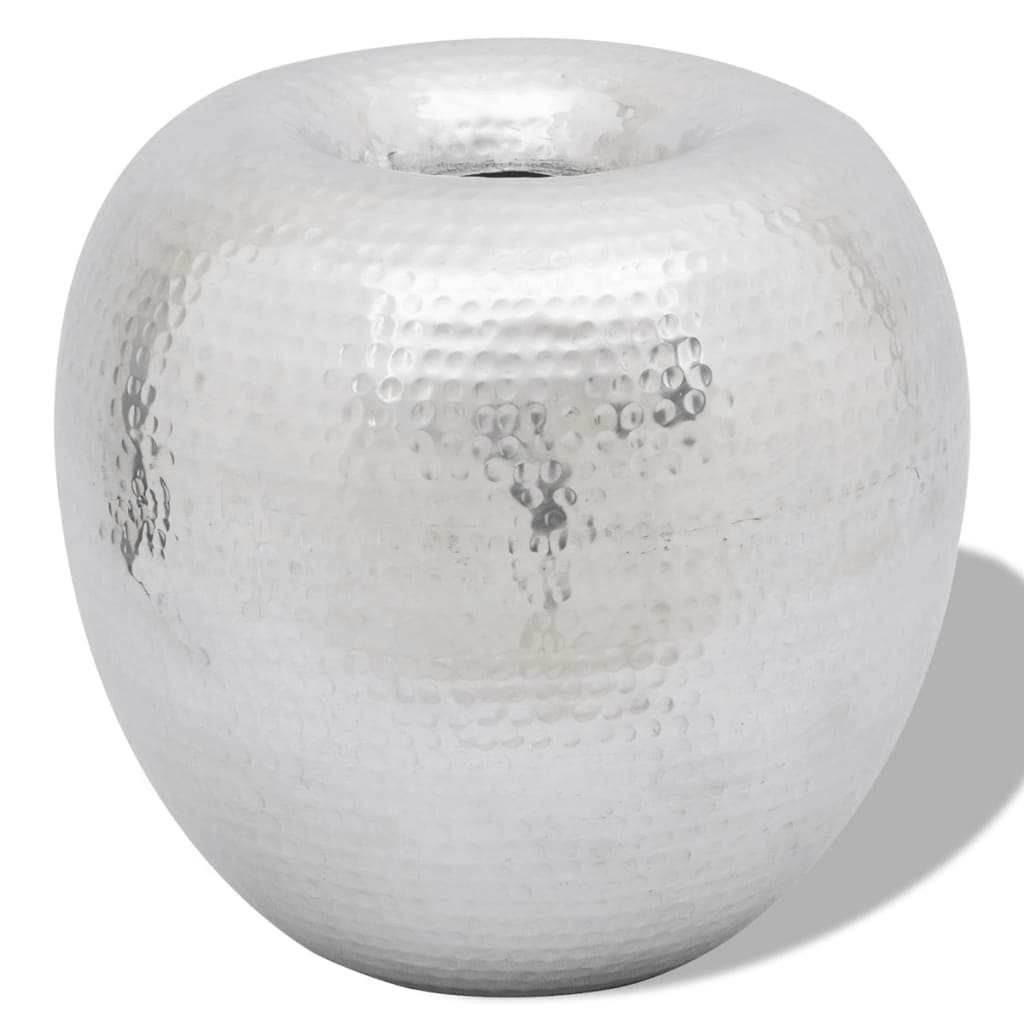 vida-xl-hammered-aluminium-vintage-style-decorative-vase