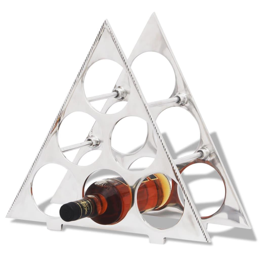 vidaXL Alumínium bortartó 6 üvegnek ezüst színű