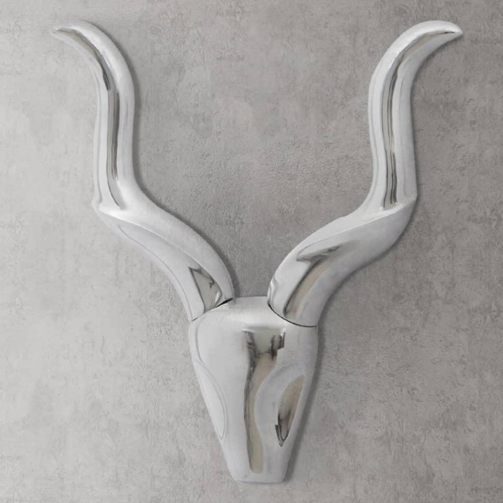 vidaXL Falra szerelhető alumínium gazella fel 50 cm ezüst szín
