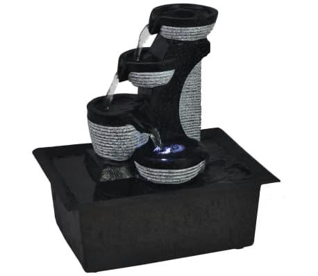 vidaXL Innendørs Fontene med LED lys Polyresin