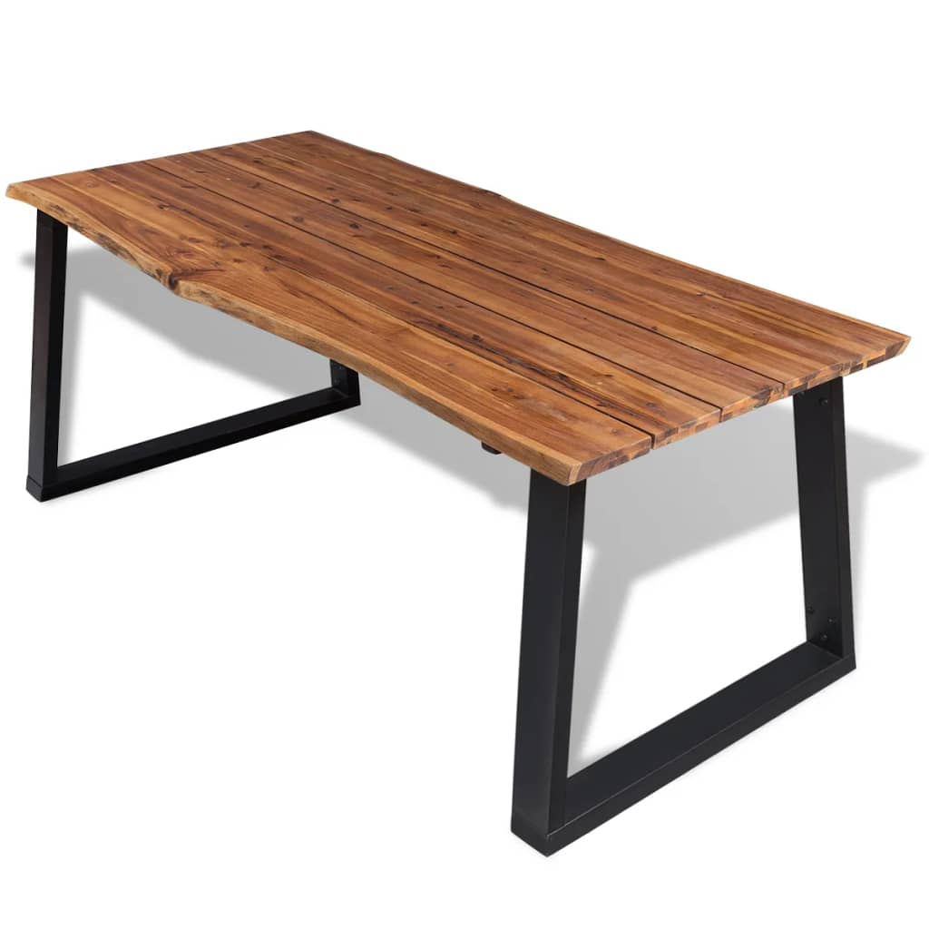 "Solid Wood Kitchen Tables: VidaXL Solid Acacia Wood Dining Table 71""x35.4"""