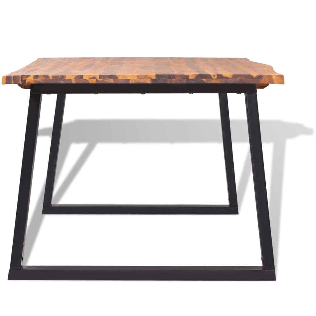 Solid Wood Kitchen Tables: VidaXL Solid Acacia Wood Dining Table 180x90 Cm