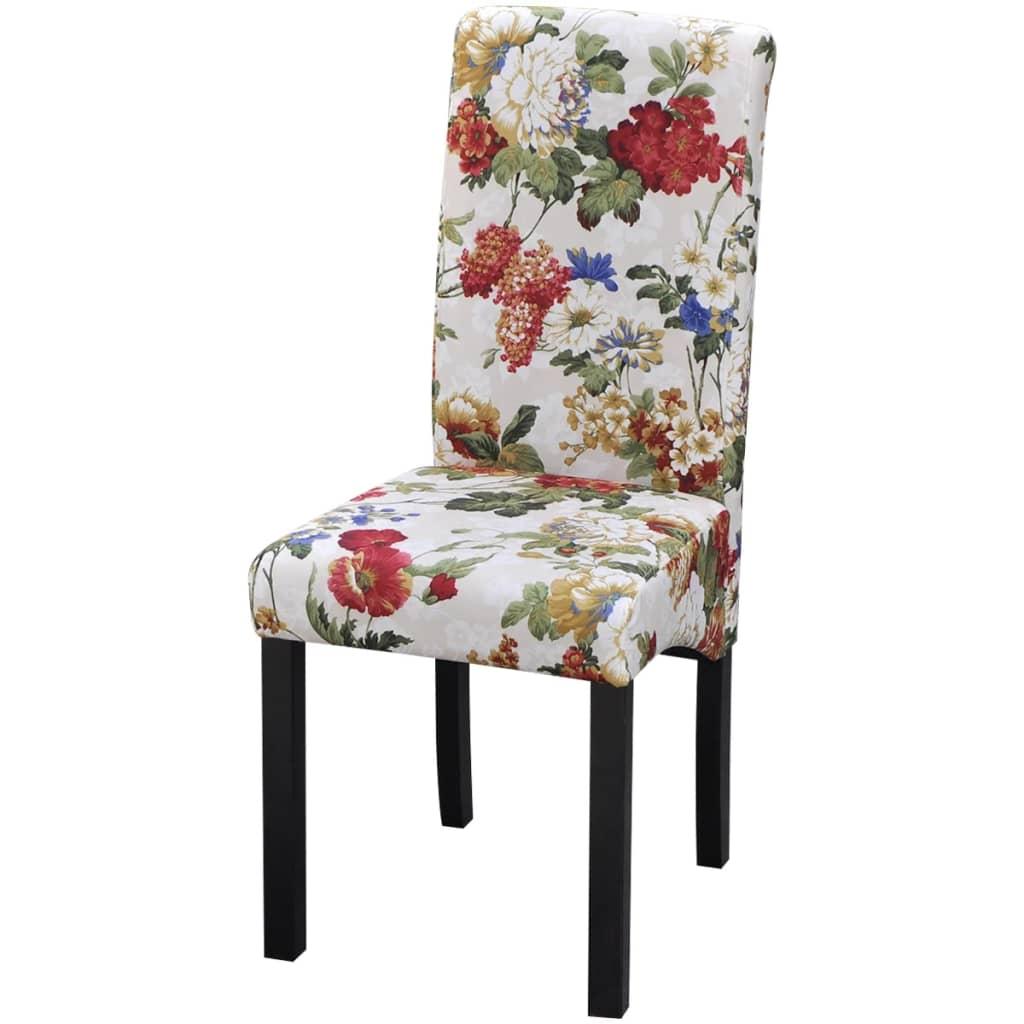 Vidaxl sillas de comedor de madera con dise o floral 2 unidades - Sillas de comedor diseno ...