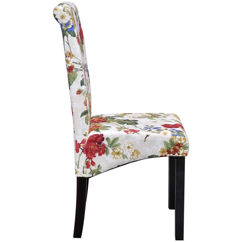 Vidaxl sillas de comedor de madera con dise o floral 4 for Sillas de diseno online