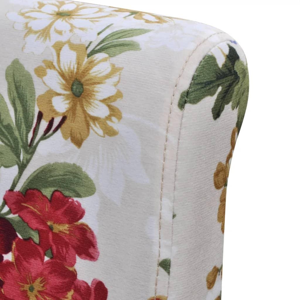 vidaxl esszimmerst hle 4 stk blumendesign holz g nstig kaufen. Black Bedroom Furniture Sets. Home Design Ideas