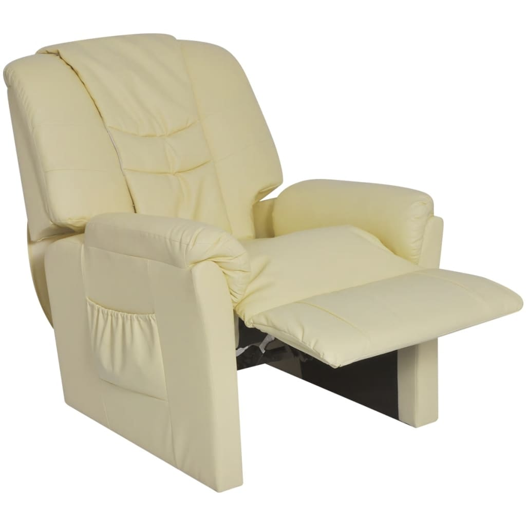 la boutique en ligne vidaxl fauteuil de massage shiatsu demi pu blanc cr me. Black Bedroom Furniture Sets. Home Design Ideas