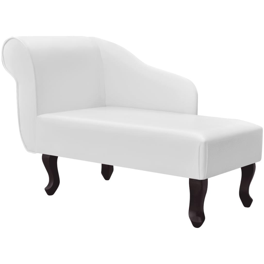 vidaXL Műbőr cséza kanapé balos karfával fehér