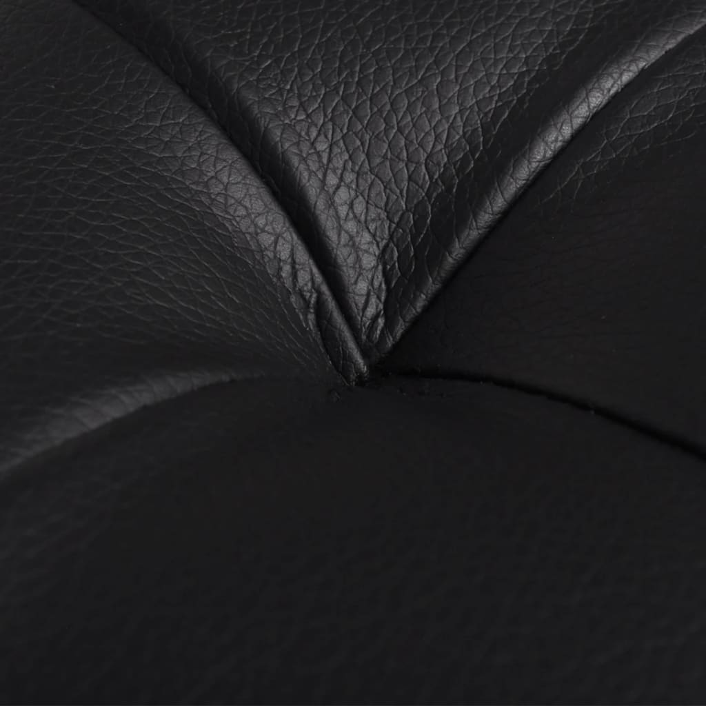 la boutique en ligne pouf rangement en touffetage en cuir synth tique noir. Black Bedroom Furniture Sets. Home Design Ideas