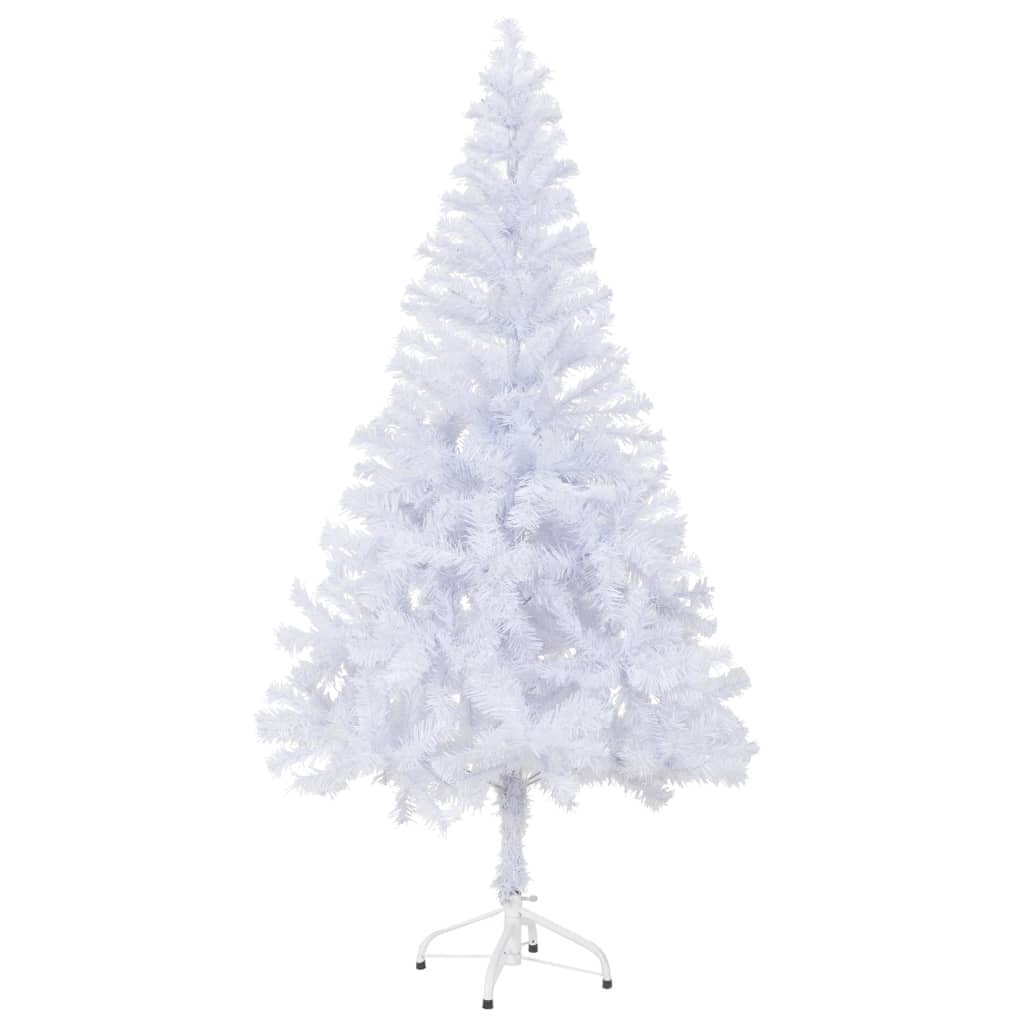 arbre de no l artificiel avec support en plastique blanc sapin de no l ebay. Black Bedroom Furniture Sets. Home Design Ideas