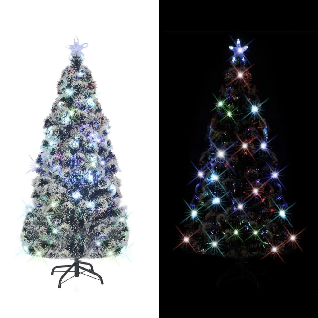 vidaXL Mű 170 ágú Karácsonyfa acél tartóval & LED fénnyel 150 cm