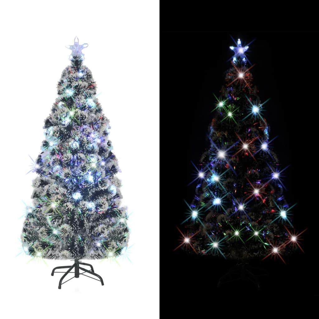 vidaXL Arbre de Noël artificiel avec support en acier/LED 210 cm 280 Branches Cet arbre de Noël artificiel magnifiquement conçu avec