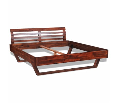 Acacia Wood Wooden Bed Frame Bedroom Furniture Queen Size Brown ...