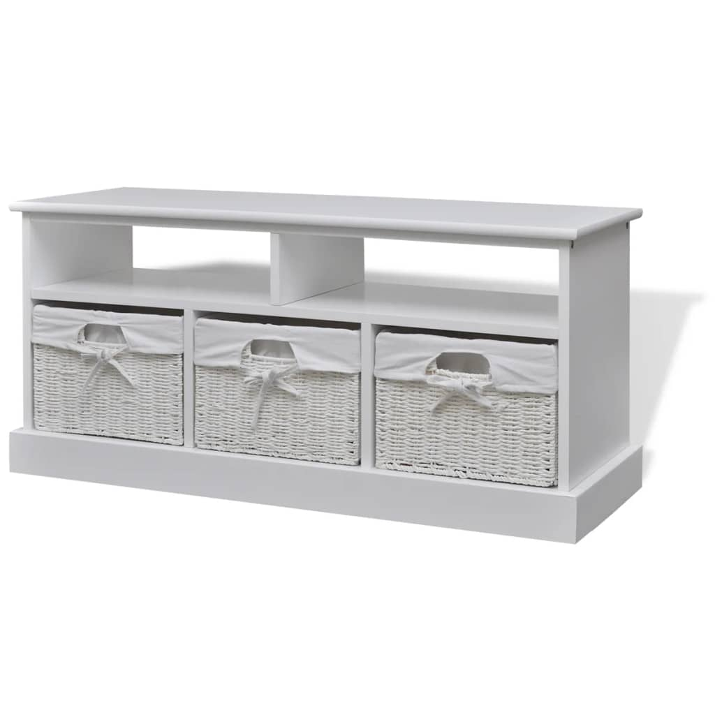 Vidaxl Storage Bench Aarau White