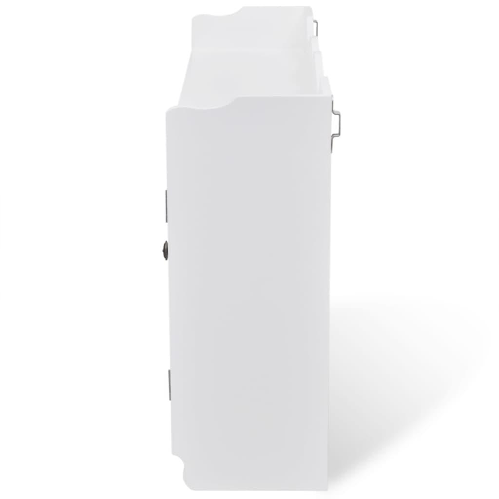 la boutique en ligne vitrine murale avec tag re de livre dvd verre en mdf blanc. Black Bedroom Furniture Sets. Home Design Ideas