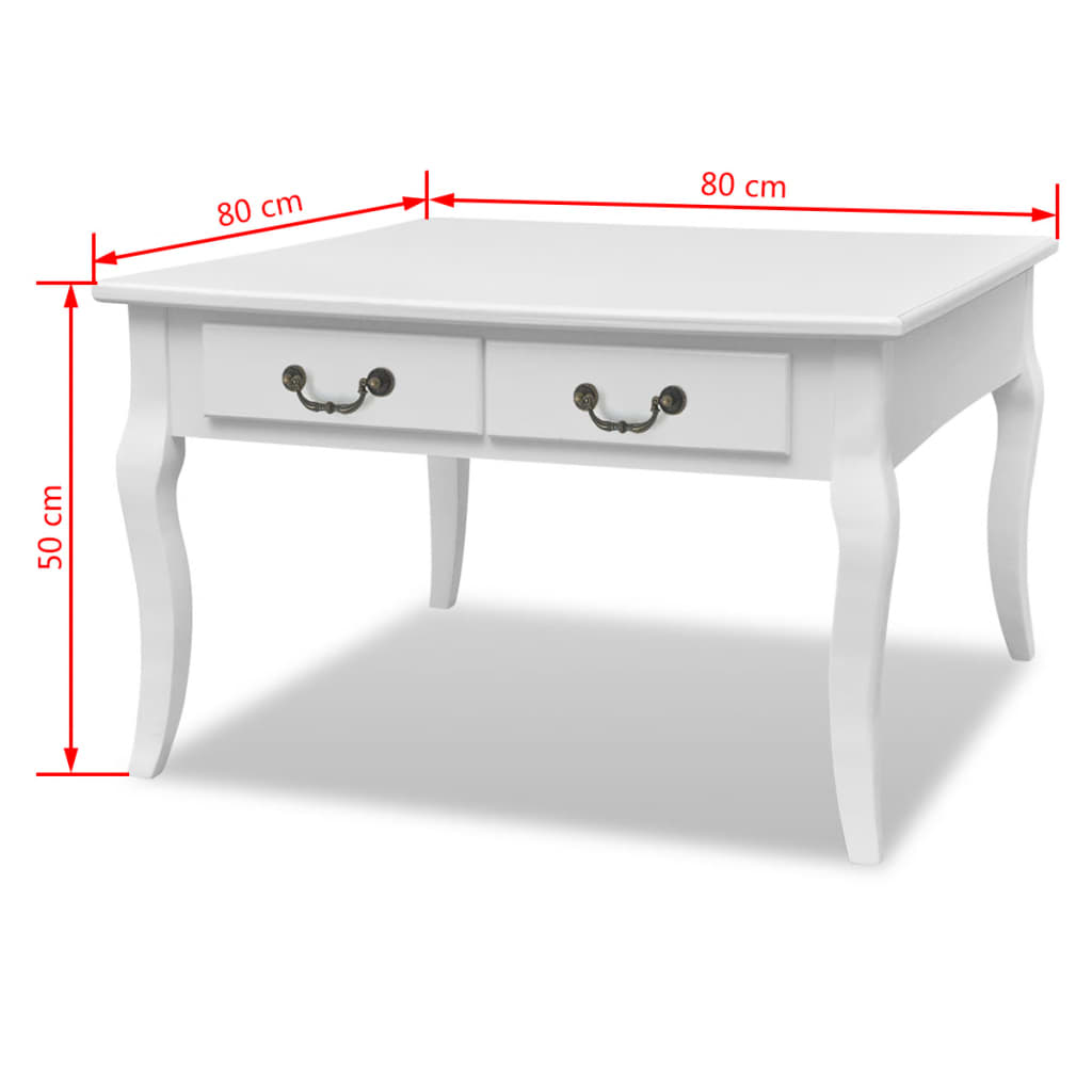 Coffee-Tea-Side-End-Table-Storage-Drawer-Living-Room-Furniture-Solid-Wood-White