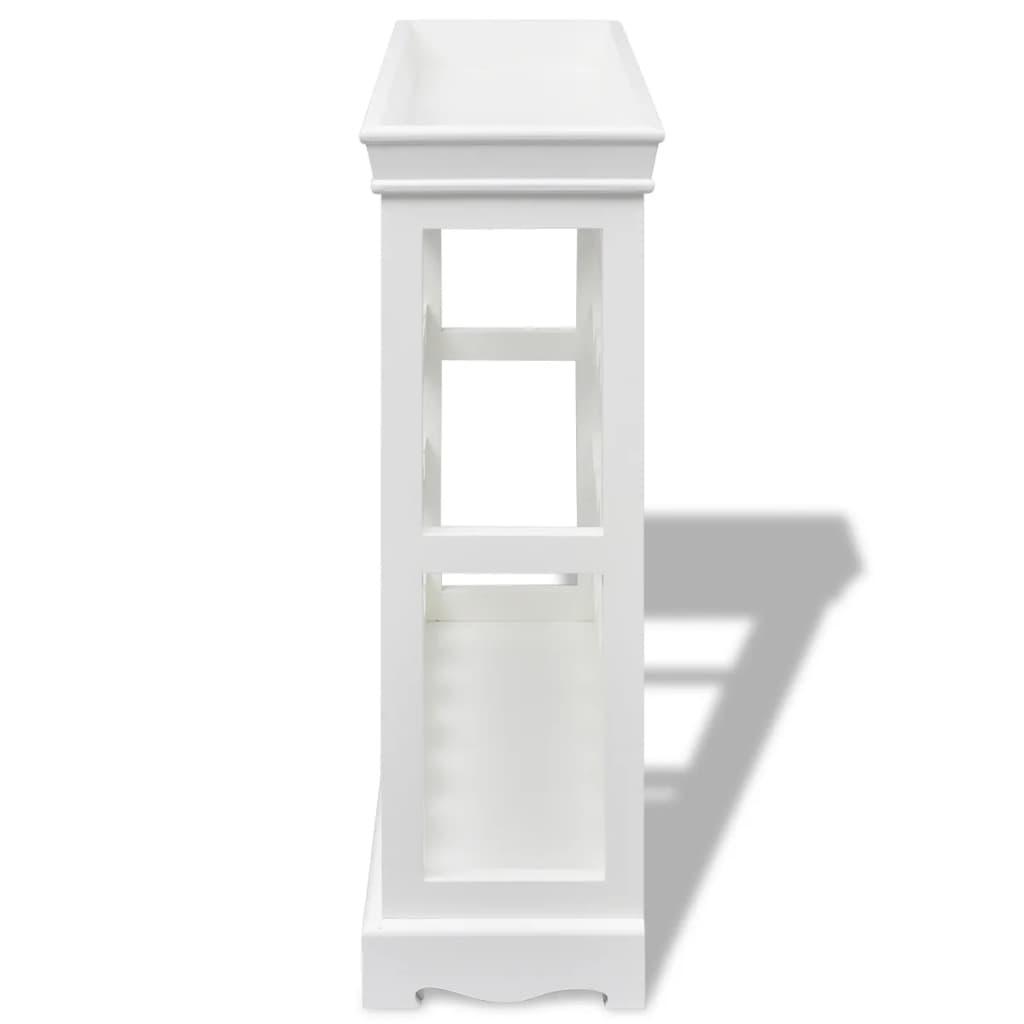 weinregal weinschrank flaschenregal abreu wei g nstig. Black Bedroom Furniture Sets. Home Design Ideas