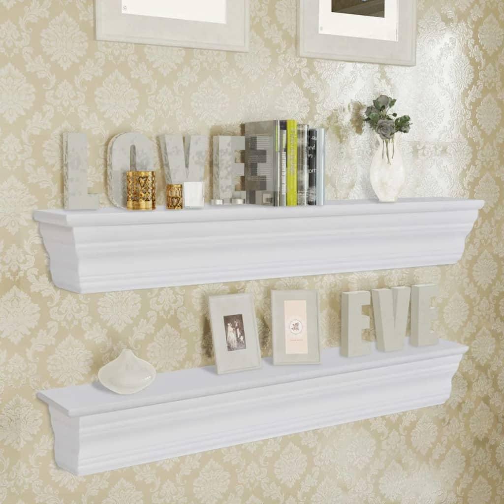 2 floating wall shelves bookshelf display decor ornament cd storage rh ebay co uk ebay wall shelving ebay wall shelving