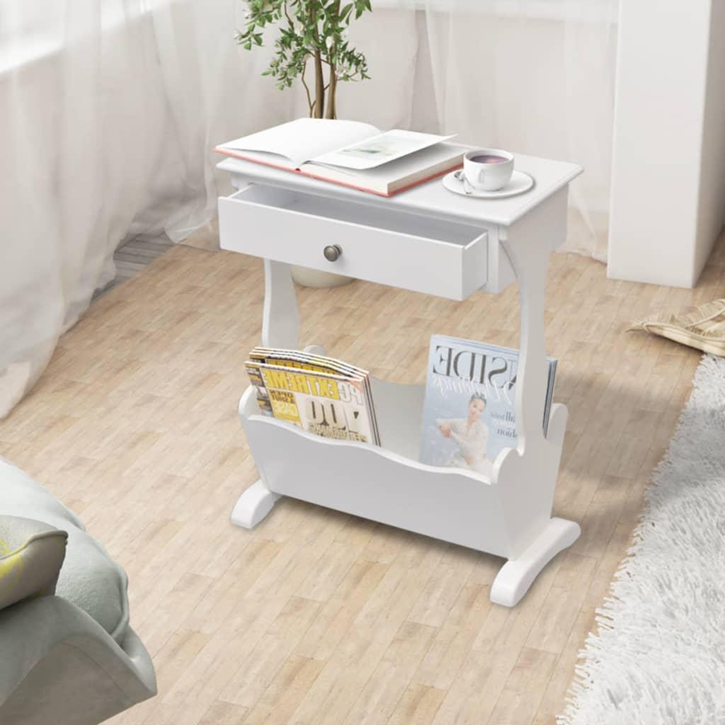 der zeitschriftenst nder zeitschriftenhalter melrose wei. Black Bedroom Furniture Sets. Home Design Ideas