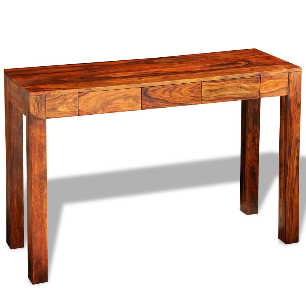 Solid sheesham wood console table cabinet for Sideboard 40 cm