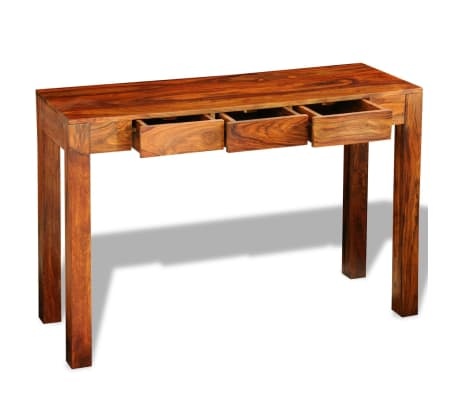 solid sheesham wood console table cabinet. Black Bedroom Furniture Sets. Home Design Ideas