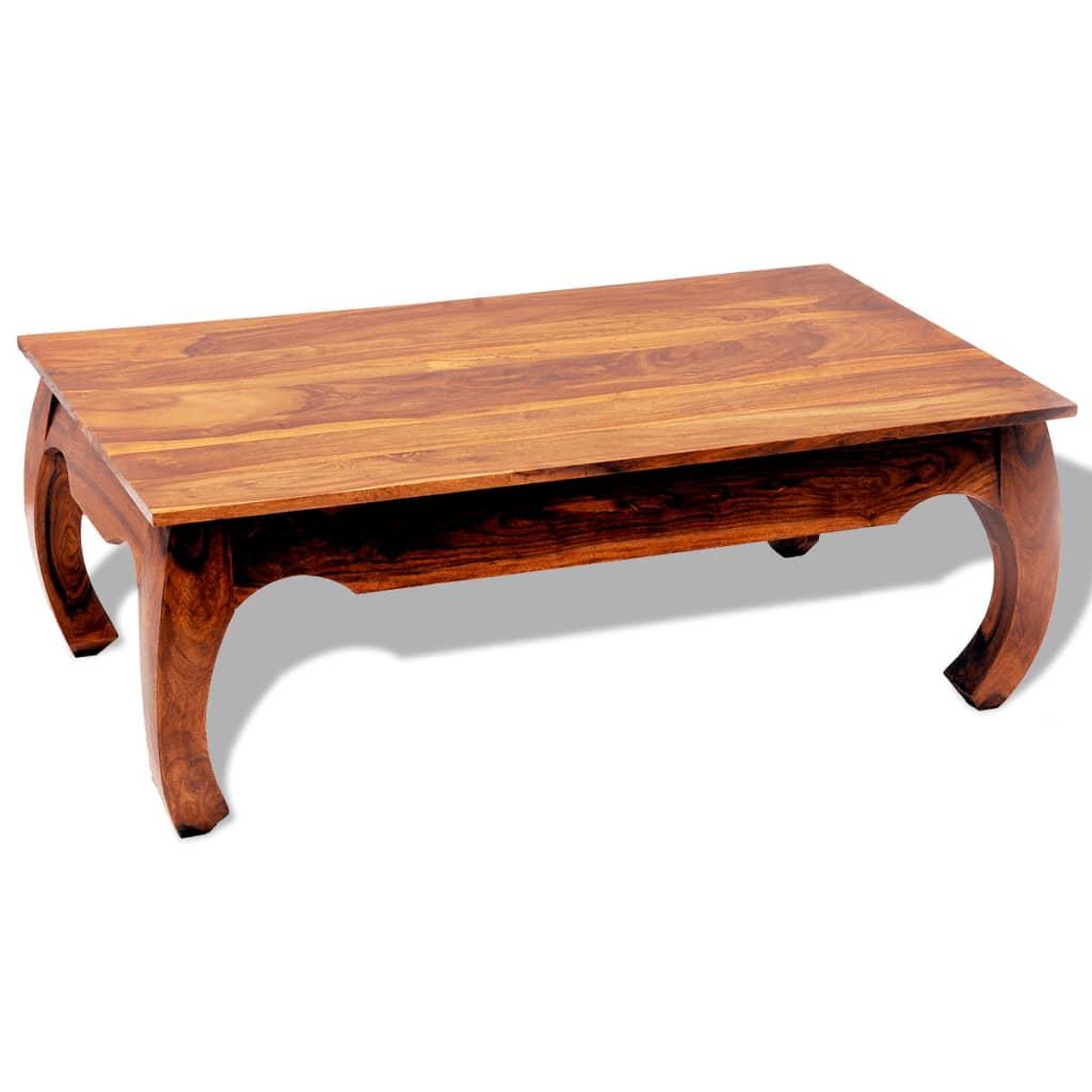 vidaXL Stolik kawowy z litego drewna sheesham, wysokość 40 cm