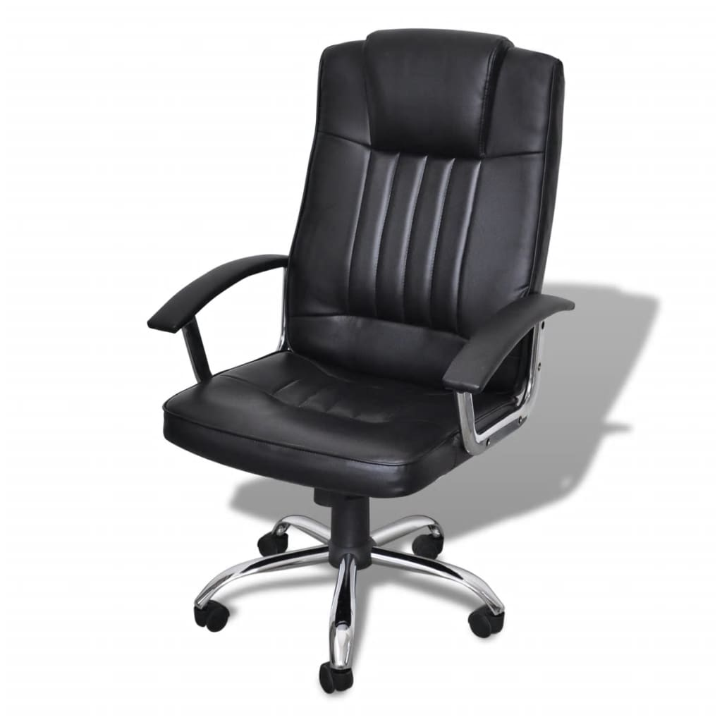 Luxury Office Chair Height Adjustable Swivel Seat Black ...