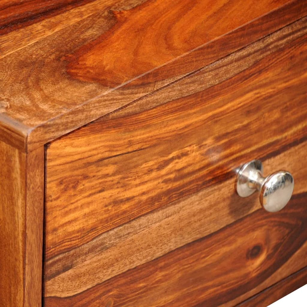 Vidaxl solid sheesham wood bed cabinet side table