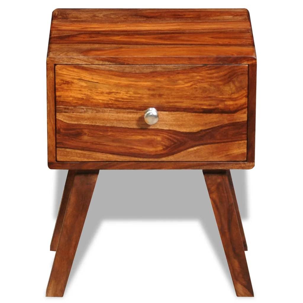 Der sheesham massivholz nachttisch beistelltisch 1 for Beistelltisch sale