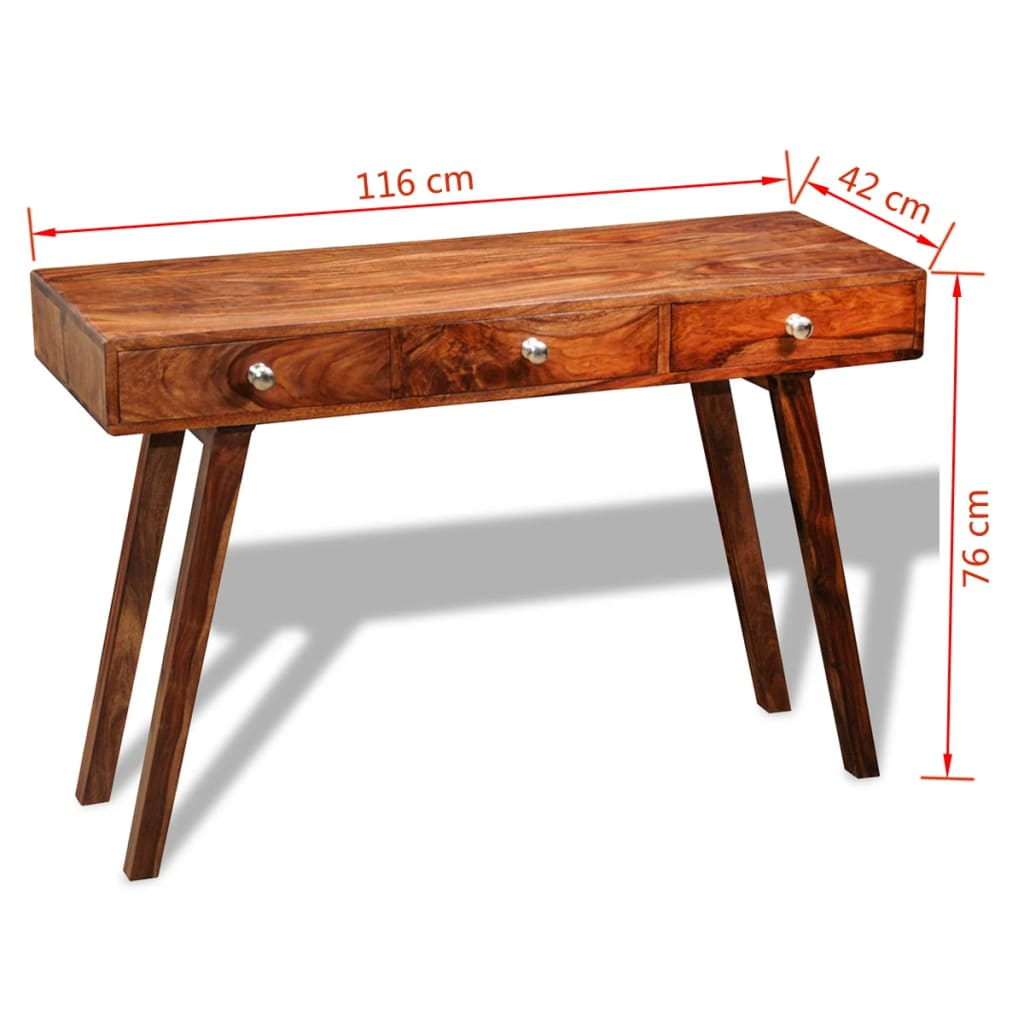 Solid sheesham wood sideboard console table cabinet