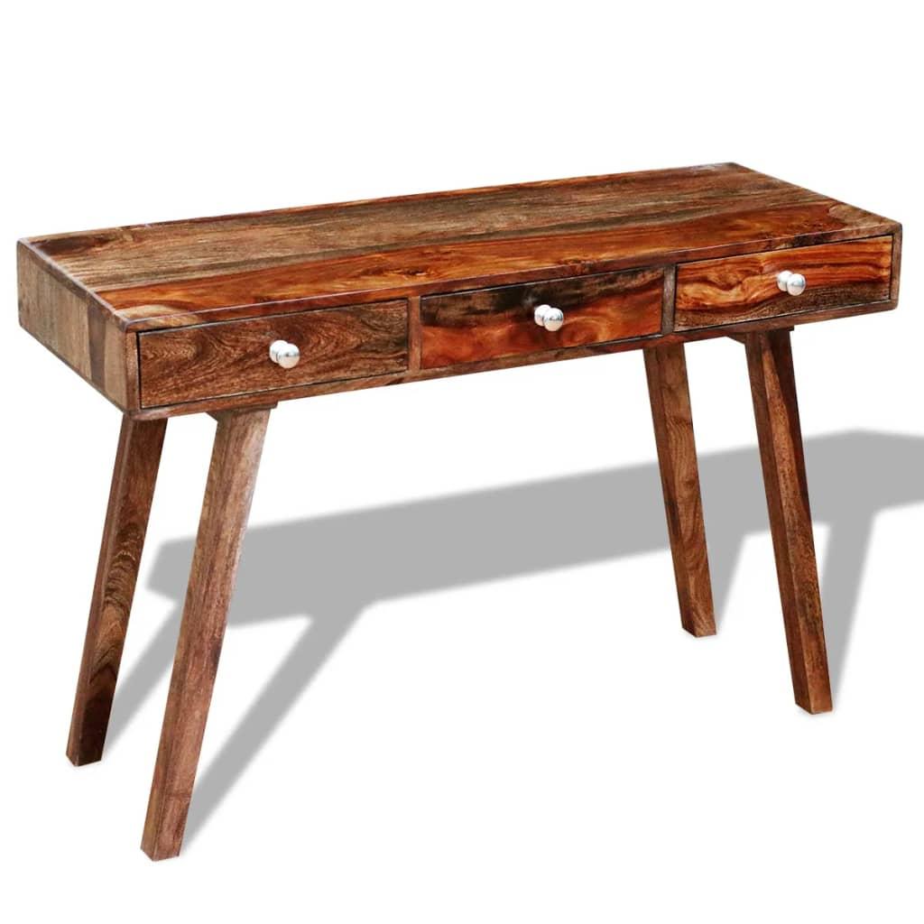 Articoli per tavolo console in legno sheesham vintage 76 for Console tavolo