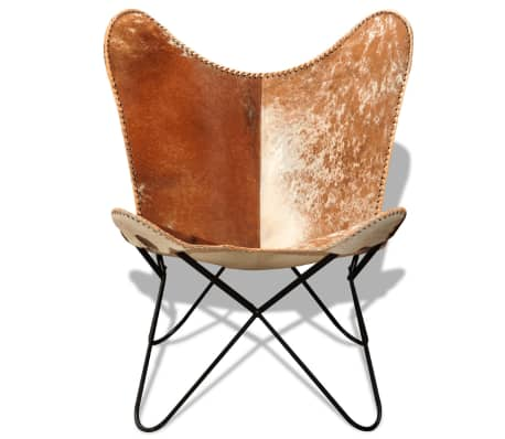 real cowhide leather butterfly chair vintage retro