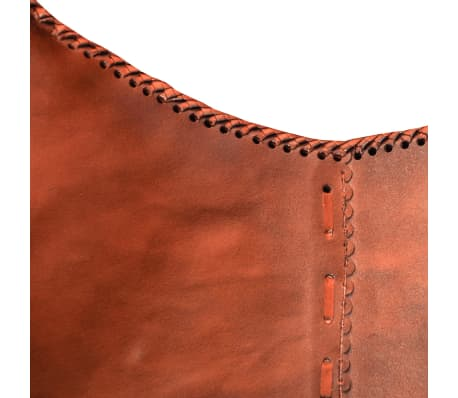 real leather butterfly chair vintage retro