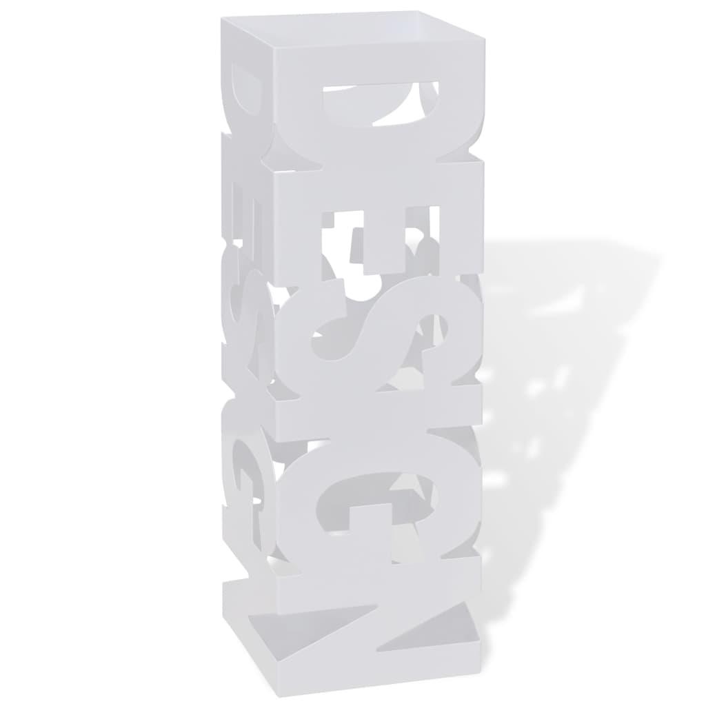 Portaombrelli e bastoni da passeggio quadrato bianco acciaio 48 5 cm - Portaombrelli ikea ...
