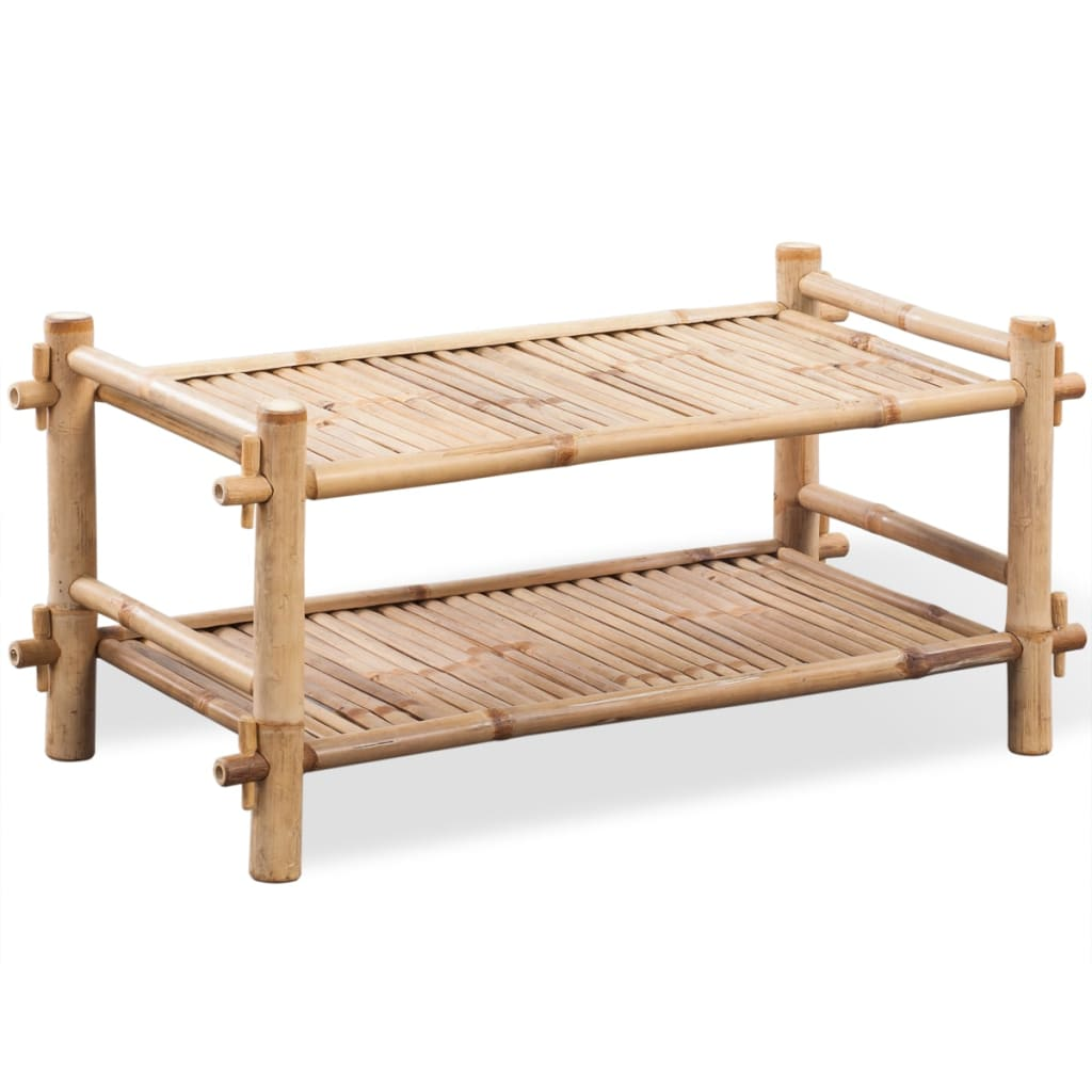 vidaxl-2-tier-bamboo-shoe-rack