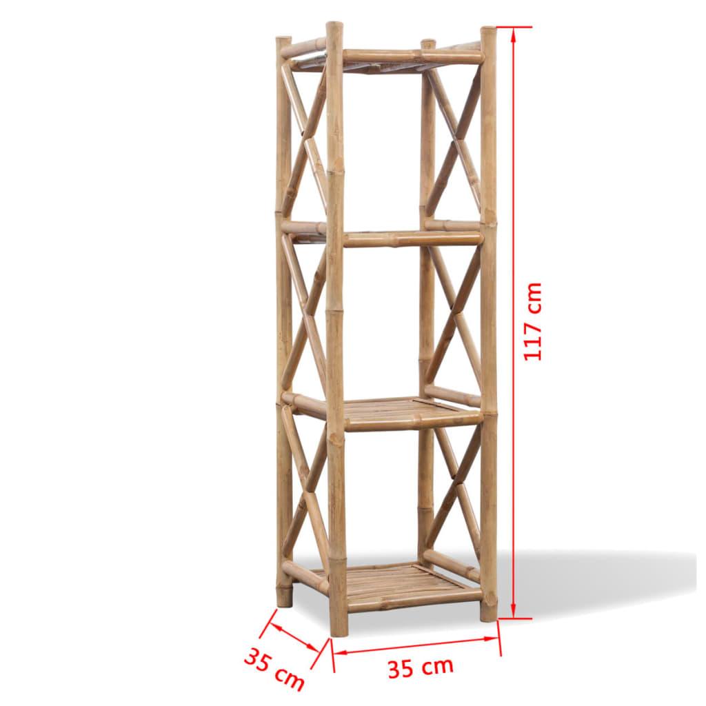 Articoli per scaffale a 4 piani in legno di bamb for Piani di coperta in legno