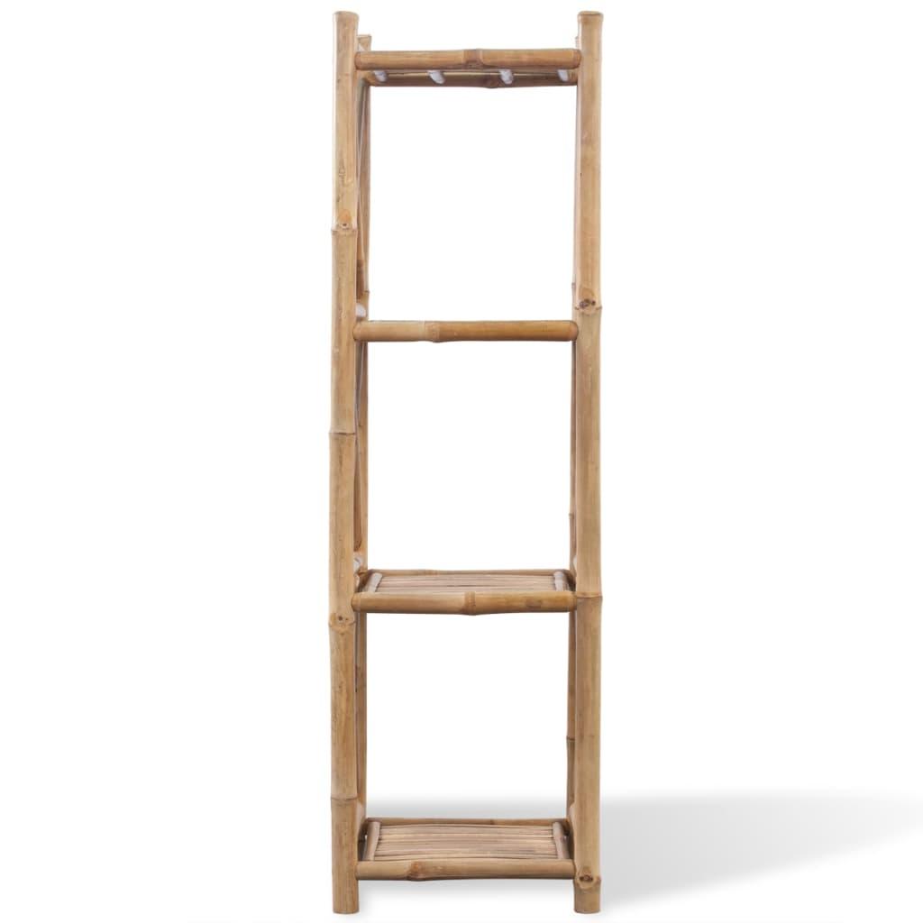 Scaffale a 4 piani in legno di bamb for Piani di coperta in legno