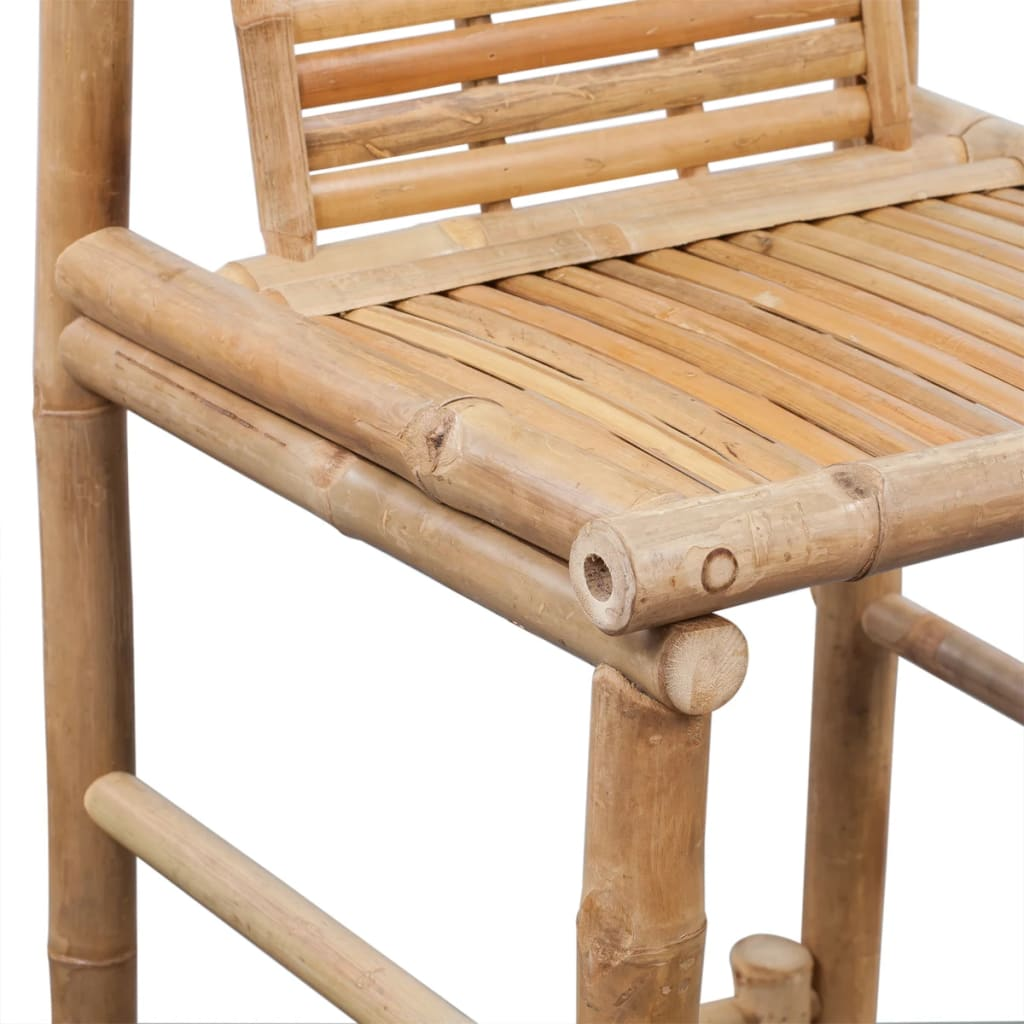 acheter 2 tabourets de bar en bambou pas cher. Black Bedroom Furniture Sets. Home Design Ideas