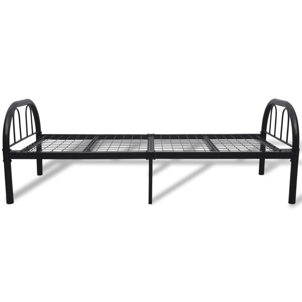 der einzelbett metallbett schwarz 90 x 200 cm online shop. Black Bedroom Furniture Sets. Home Design Ideas
