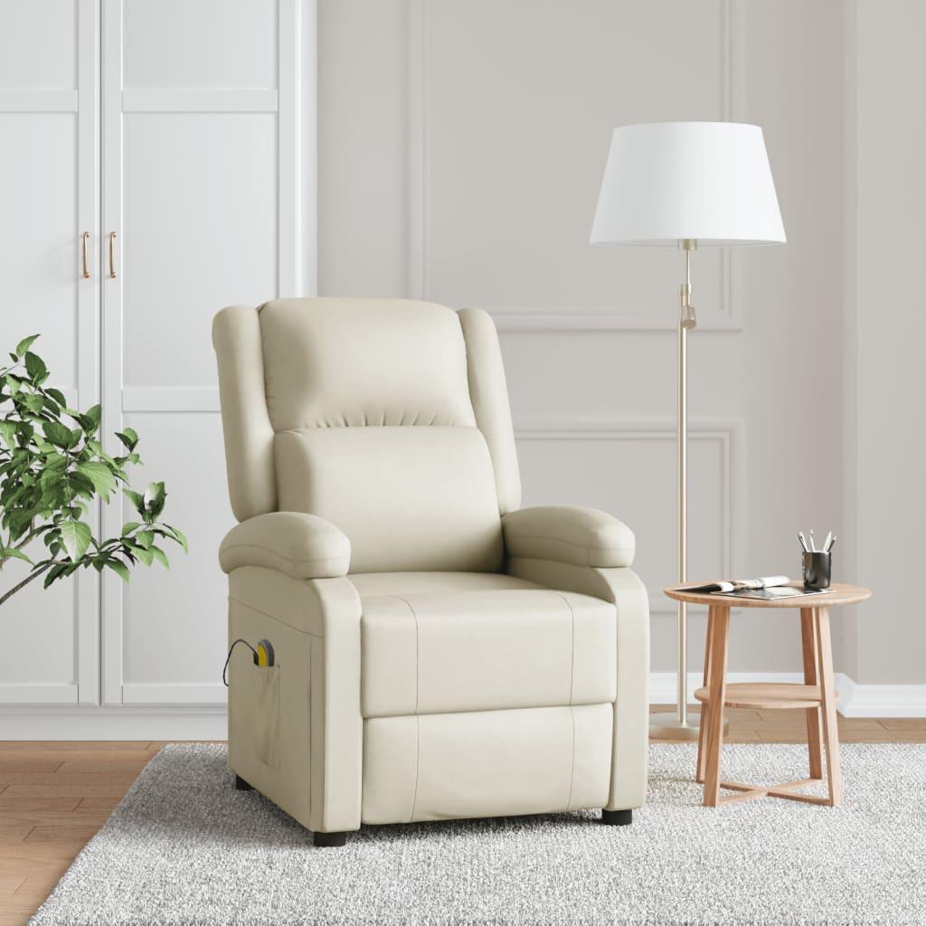 Poltrona-massaggiante-elettrica-ecopelle-bianca-nera-Poltrona-TV-8-massaggi