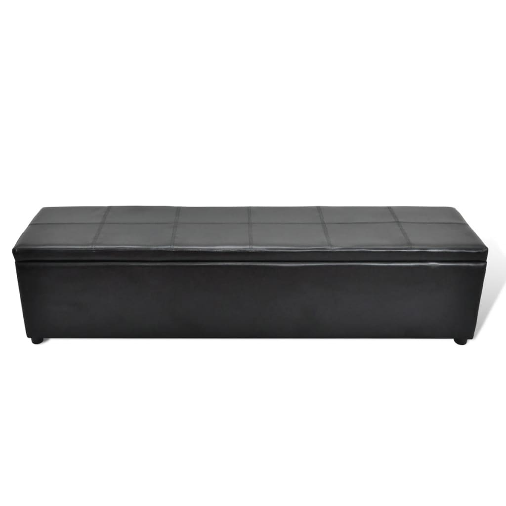 Black Storage Bench Large Size