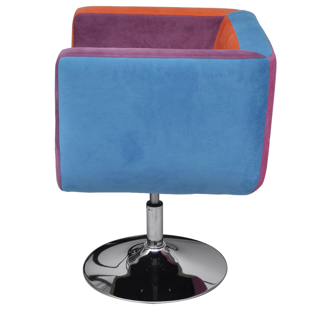 patchwork cube chair height