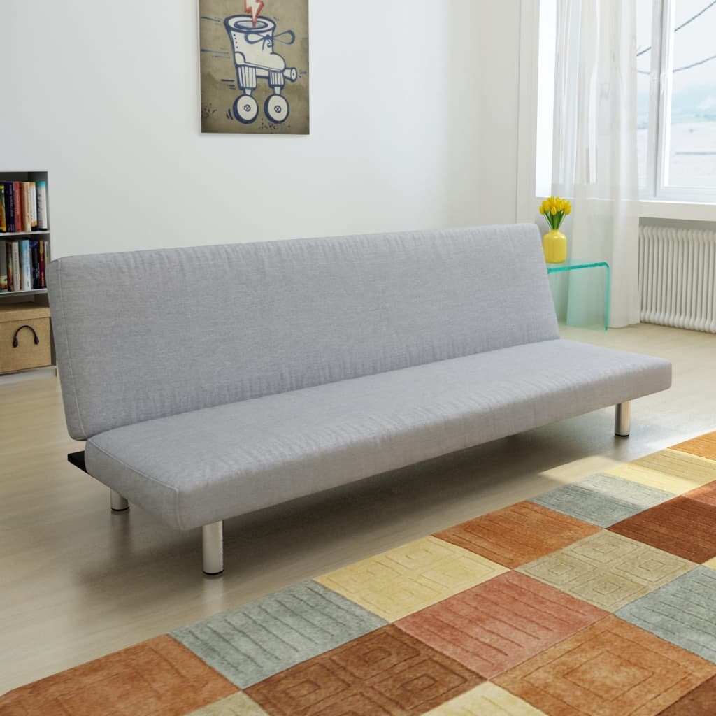 Light gray convertible sofa bed for Sofa gris y blanco