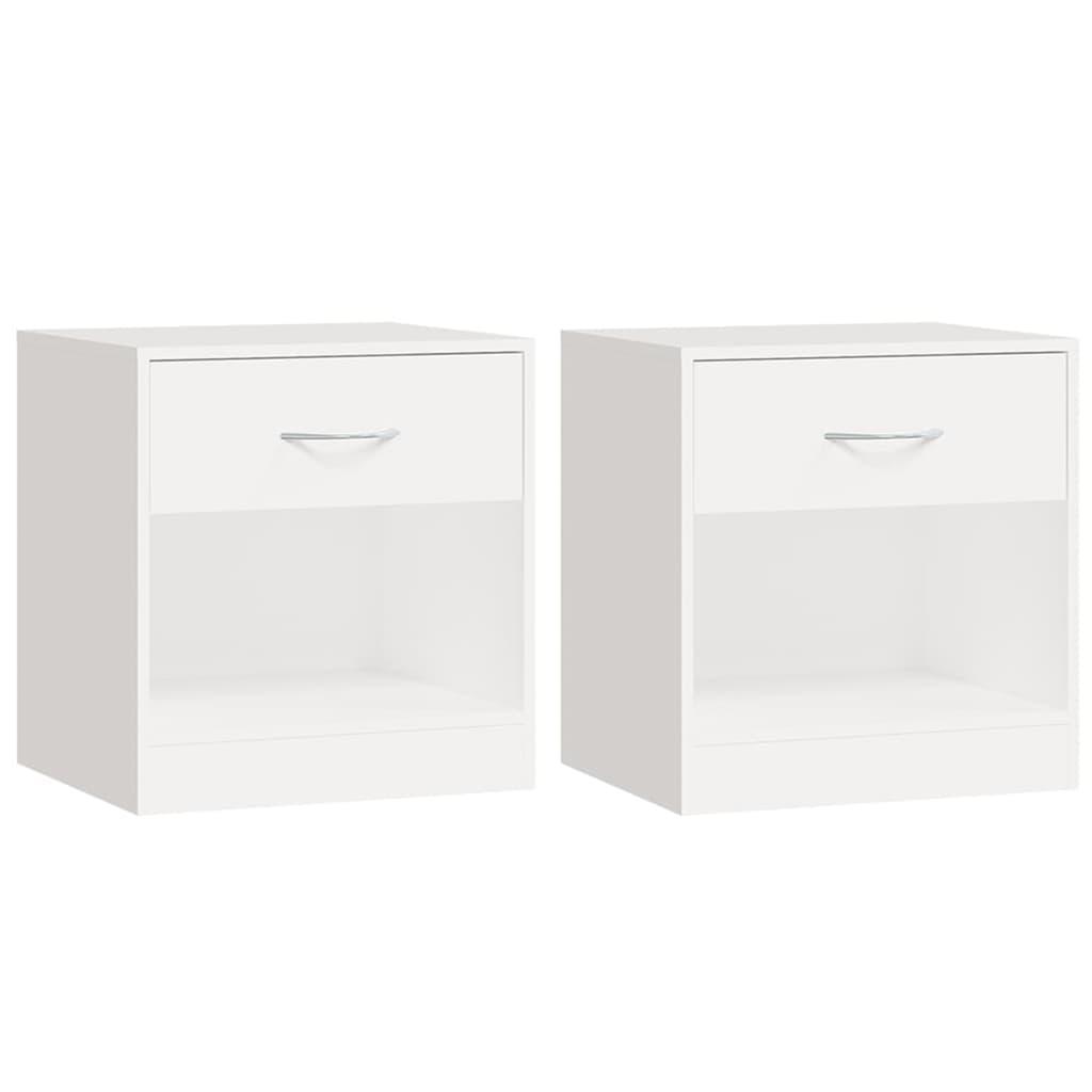 vidaXL 2 szafki nocne z szufladą, białe