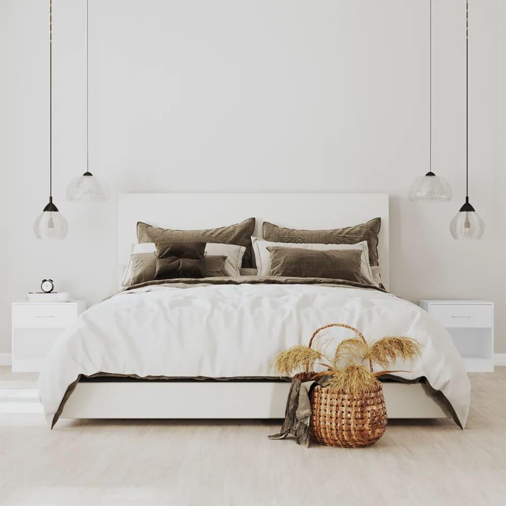 La boutique en ligne 2 tables de chevet avec tiroir blanc - Table de chevet suspendu avec tiroir ...