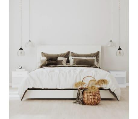 La boutique en ligne 2 tables de chevet avec tiroir blanc for Table de chevet suspendu avec tiroir