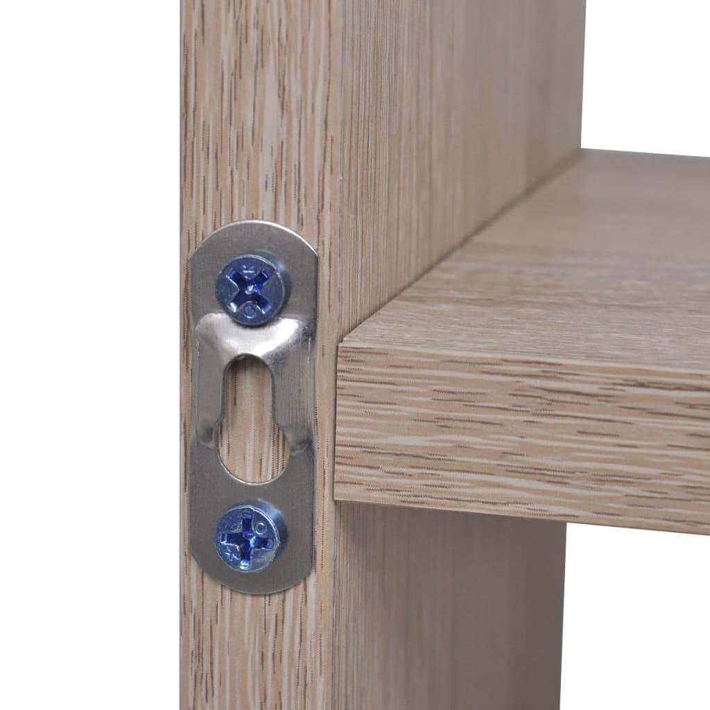 der wandregal h ngeregal mit 8 f chern eichefarbe online shop. Black Bedroom Furniture Sets. Home Design Ideas