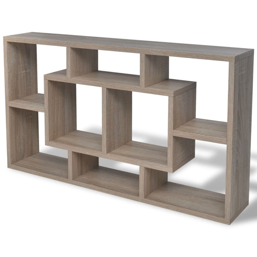 floating wall display shelf 8 compartments. Black Bedroom Furniture Sets. Home Design Ideas