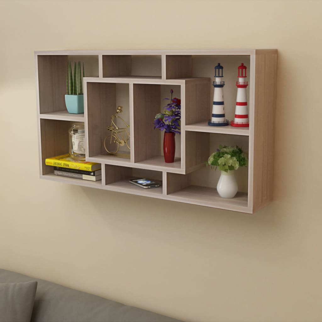 Floating wall display shelf 8 compartments for Picture wall display