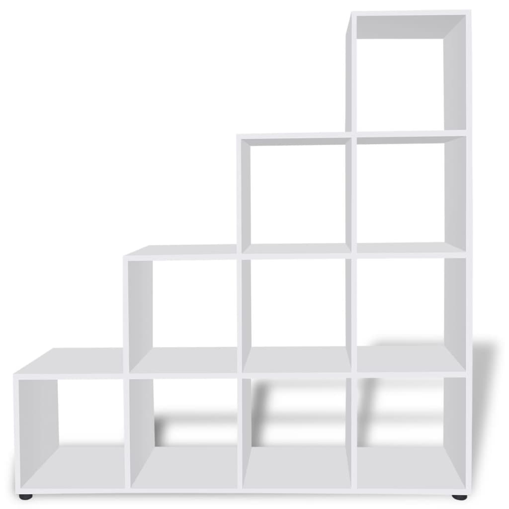 acheter tag re biblioth que 142 cm blanc pas cher. Black Bedroom Furniture Sets. Home Design Ideas