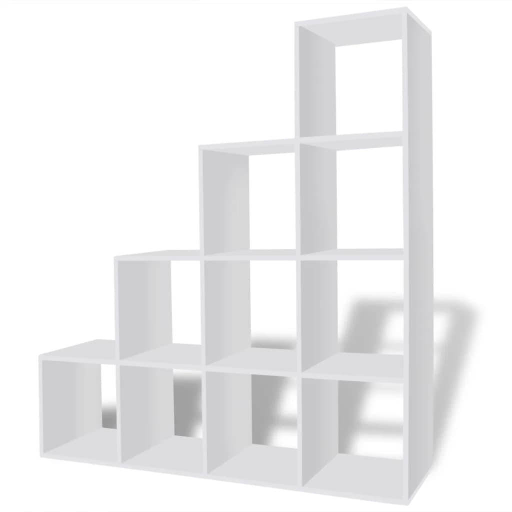Estanter a blanca para libros en forma de escalera 142 cm - Estanterias en escalera ...